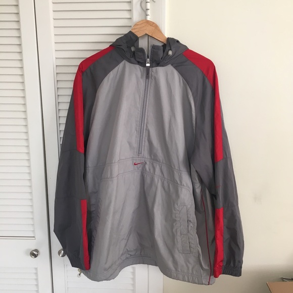 69c1acd82dc Nike Jackets & Coats | Vintage Vtg Grey And Red Windbreaker | Poshmark